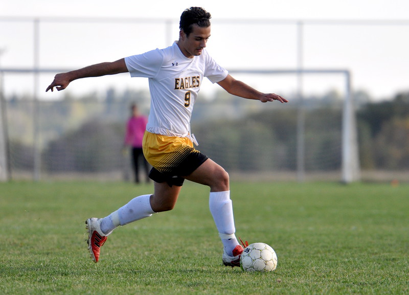 Thompson Valley exchange student Pablo Cervantes came to Loveland from Spain for the year, where he's experienced American life on and off the pitch, helping the Eagles reach the playoffs while soaking in a new culture. (Cris Tiller / Loveland Reporter-Herald)