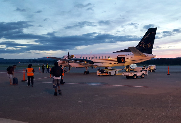Photos: PenAir flights to and from Portland begin