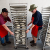 """Paul Meese and Frank Rainey, members of the Rotary Club, prepare whipping cream pies for the pie fight in Longmont on Saturday. The Twin Peaks Rotary Club held a pie fight to raise money for St. Vrain Valley School District Rotary Youth Programs.  <br /> More photos:  <a href=""""http://www.dailycamera.com"""">http://www.dailycamera.com</a><br /> (Autumn Parry/Staff Photographer)<br /> August 27, 2016"""