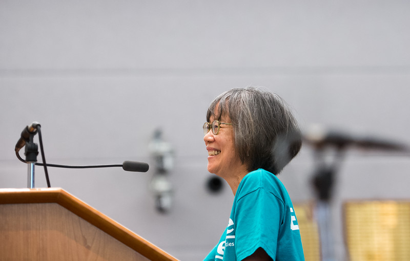 "Judith Wong, a board member for Eco-Cycle,  argues in favor of extending collections of a sales and use tax which would help fund open space acquisition and sustainability programs, during a public hearing held by the county commissioners, at the Boulder County Courthouse on Thursday.<br /> More photos:  <a href=""http://www.dailycamera.com"">http://www.dailycamera.com</a><br /> (Autumn Parry/Staff Photographer)<br /> July 28, 2016"
