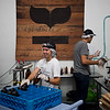 "Gioia Garden (left) and Benton Jackson work on bottling kombucha in the taproom at Rowdy Mermaid Kombucha in Boulder on Wednesday. Rowdy Mermaid Kombucha is the first kombucha maker in the state to get their liquor license. <br /> For more photos go to  <a href=""http://www.dailycamera.com"">http://www.dailycamera.com</a><br /> (Autumn Parry/Staff Photographer)<br /> June 27, 2016"