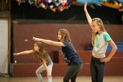 Miriam Wheeler, 12, left, Isabella Kavanaugh, 11, and Chloe Doerner, 9, dance at Salsa Kids! at Redwood Raks in Arcata on Tuesday. Students ages 7 to 14 are learning Salsa, Merengue, Bachata, Samba and Latin Jazz dance techniques. They are also rehearsing a piece for the Latin dance expose that will take place there Weds., Dec. 19, at 6:30 p.m. Another 15-class session starts January 15. (Shaun Walker -- The Times-Standard)