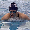 Saratoga Springs senior Madeline Yuhasz comes breaks the surface of the water at the Shenendehowa pool during the breaststroke leg of the 200-yard individual medley Saturday afternoon.
