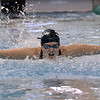 Shenendehowa senior Shauna Killane comes up and out of the water during the butterfly leg of the 200-yard individual medley final heat Saturday during the Section 2 Division 1 final.