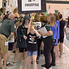 The Section 2 Division I swimming finalists came out in style for their championship heats, led with a blinking sign in front of a packed house Saturday at the Shenendehowa Aquatics Center.
