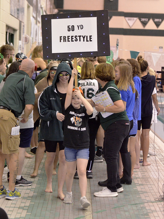. The Section 2 Division I swimming finalists came out in style for their championship heats, led with a blinking sign in front of a packed house Saturday at the Shenendehowa Aquatics Center.