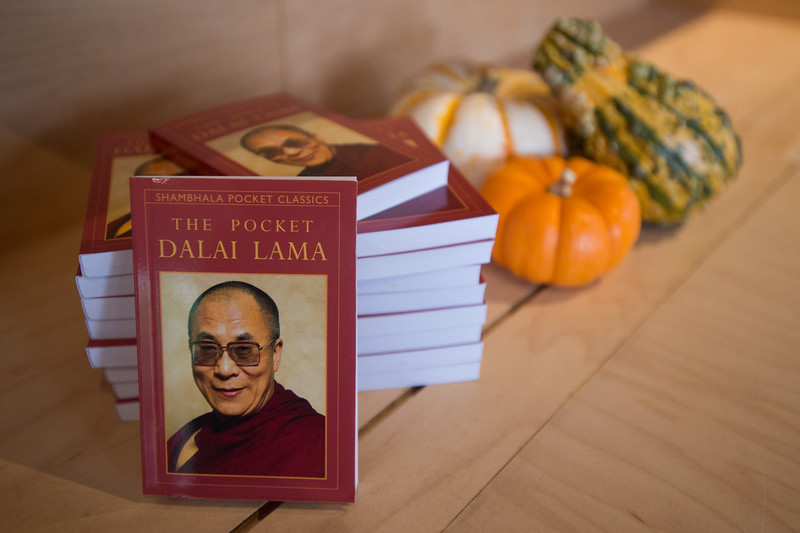 "The Pocket Dalai Lama is on display at Shambhala Publications on Friday. Shambhala Publications is the world's largest English-language Buddhist book publishing company, and is celebrating its one-year anniversary in Boulder. <br /> More photos:  <a href=""http://www.dailycamera.com"">http://www.dailycamera.com</a><br /> (Autumn Parry/Staff Photographer)<br /> September 30, 2016"