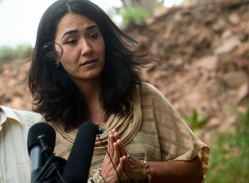 "Sitora Yusufiy, the ex-wife of Orlando shooting suspect Omar Mateen, gives a statement to the media at their home outside Boulder on Sunday.<br /> For more photos go to  <a href=""http://www.dailycamera.com"">http://www.dailycamera.com</a><br /> (Autumn Parry/Staff Photographer)<br /> June 12, 2016"