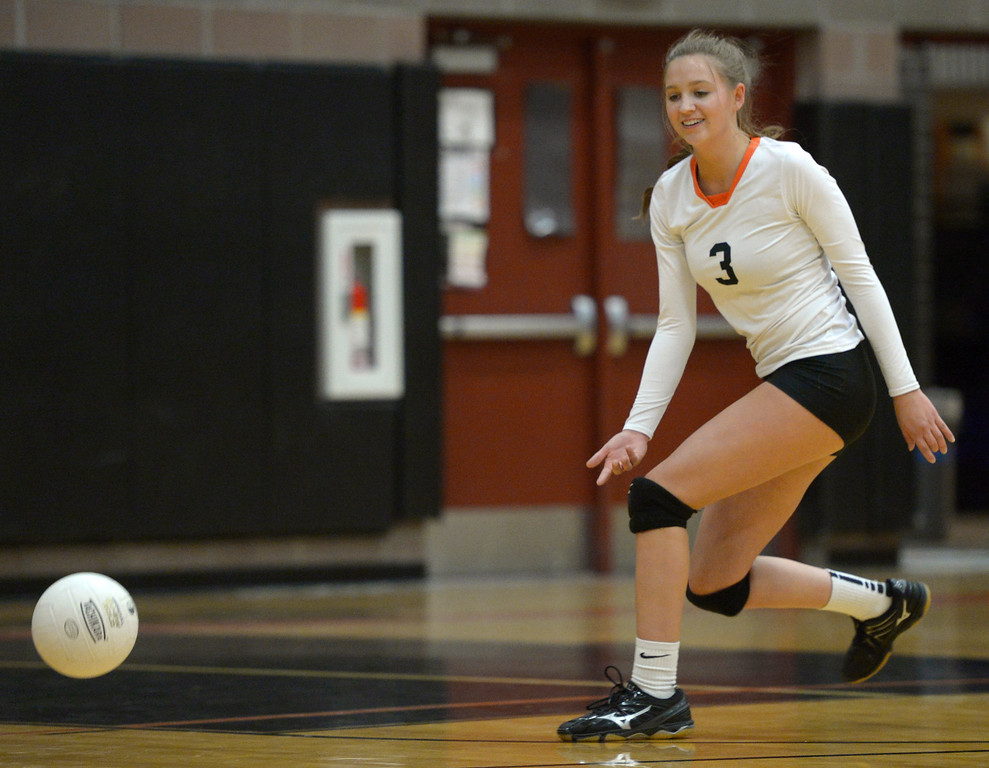 . The ball gets by Erie\'s Autymn Purcell in the second set against Skyline Tuesday night at Erie High School. To view more photos visit bocopreps.com. Lewis Geyer/Staff Photographer Oct. 24, 62017