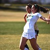 Niwot's Natalia Storz controls a goal kick during the Cougar's game against Skyline on Tuesday, March 20, in Niwot.