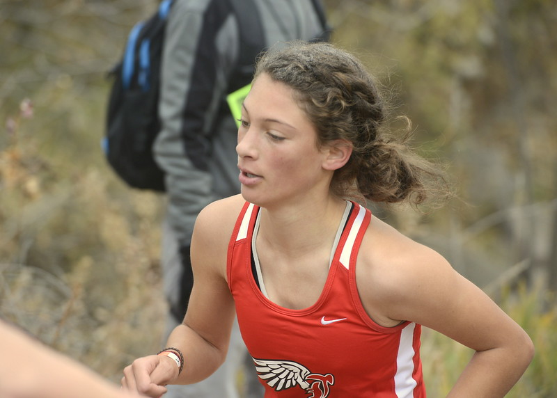 Loveland's Kennedy Burch competes in the 5A girls state cross country championship on Saturday in Colorado Springs.
