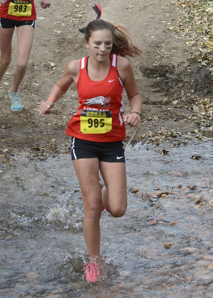 Loveland's Mckenzie Lindgren competes in the 5A girls state cross country championship on Saturday in Colorado Springs.