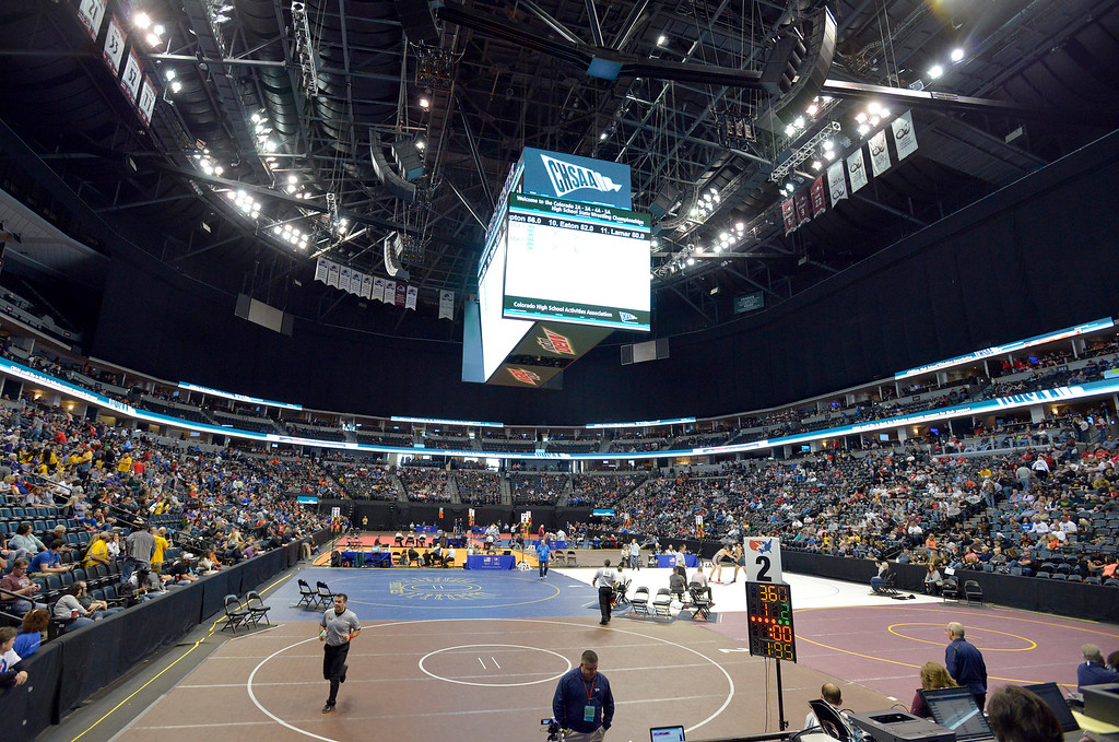 . The state wrestling tournament at the Pepsi Center Saturday. To view more photos visit bocopreps.com. Lewis Geyer/Staff Photographer Feb. 18, 2017