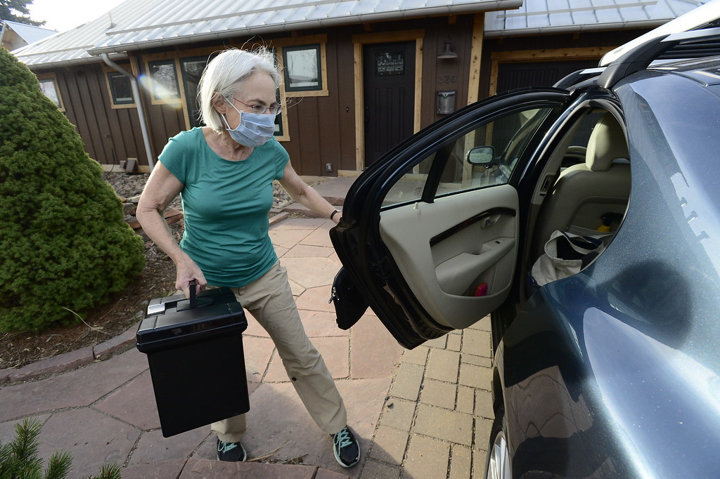 . Anne Slichter prepares to evacuate her home near the Sunshine Fire near Boulder Canyon west of Boulder on Sunday  Paul Aiken Staff Photographer March 19 2017
