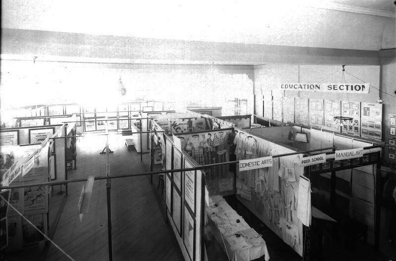County week at the fair : Education section circa 1921<br /> Boulder County Fairgrounds  Boulder Historical Society photos