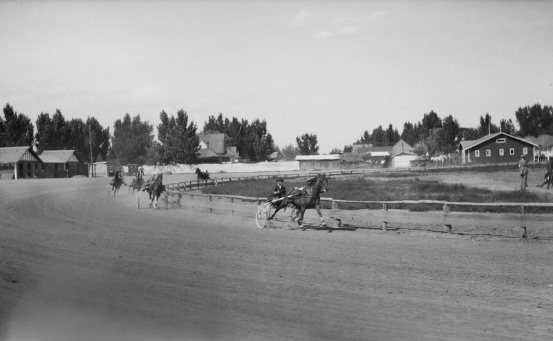 Horse Racing at the County Fair in 1919-22 Boulder Historical Society photos