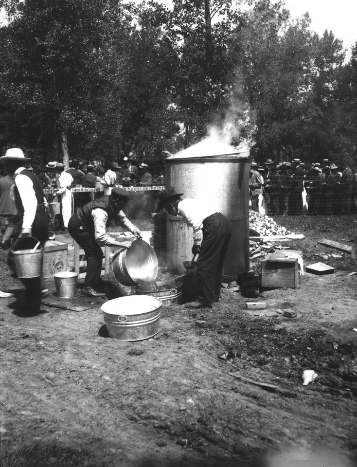 Longmont Pie Day the Coffee Pot 1908<br /> Longmont Pie Day 1,000 Pies circa 1908 at the Boulder County Fairgrounds Boulder Historical Society photos.