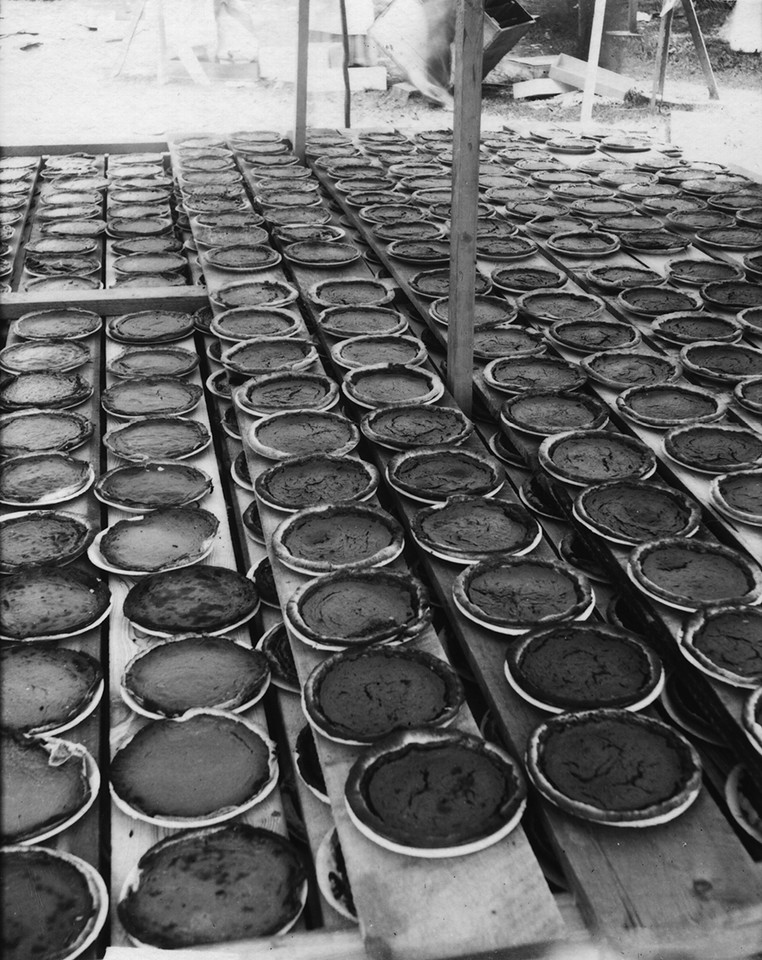 Longmont Pie Day 1,000 Pies circa 1908 at the Boulder County Fairgrounds Boulder Historical Society photos.