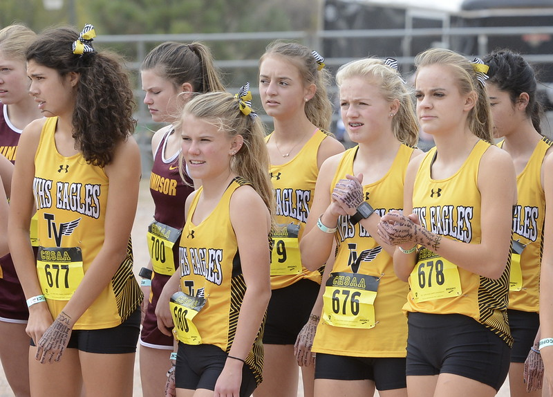 The Thompson Valley girls get ready to run the 4A state championship on Saturday in Colorado Springs.