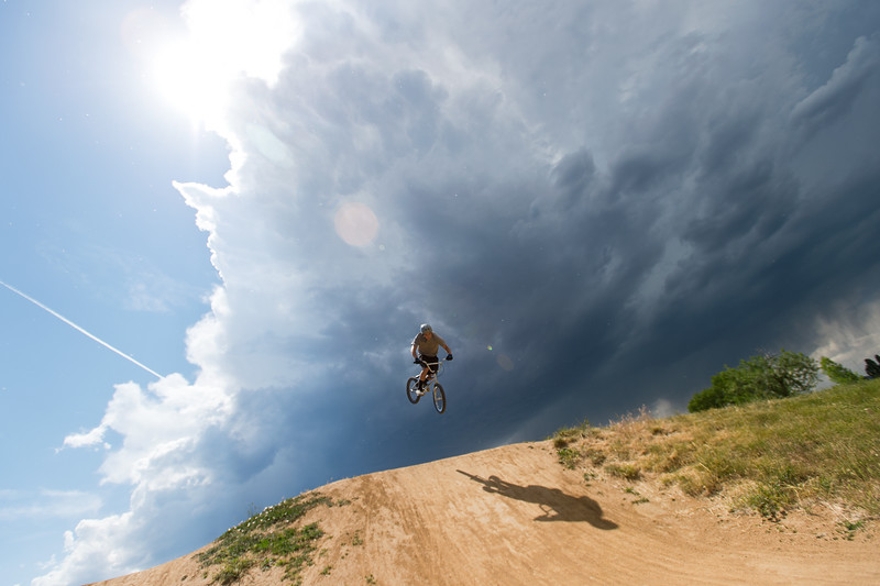 "Dane Gaston takes a jump in Valmont Bike Park on Saturday. The City of Boulder Parks and Recreation Department celebrated the fifth anniversary of Valmont Bike Park this weekend. <br /> More photos:  <a href=""http://www.dailycamera.com"">http://www.dailycamera.com</a><br /> (Autumn Parry/Staff Photographer)<br /> June 11, 2016"