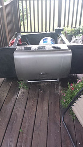 Reader Sheila Beaulac shared this photo of an overturned grill.
