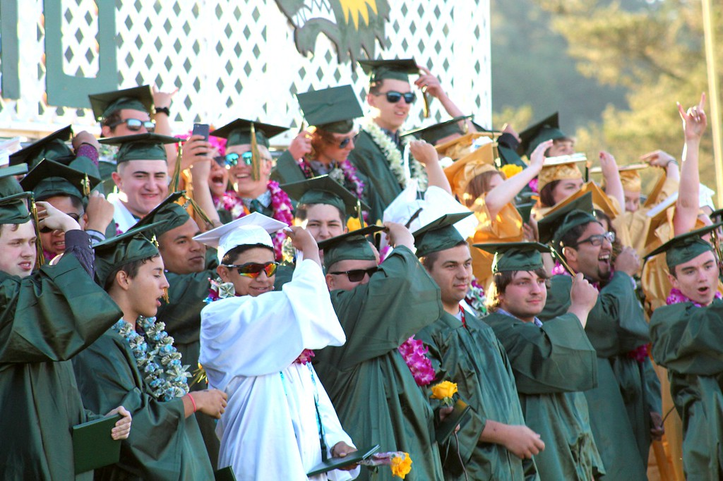 . Daisy Barrett for The Willits News The seniors move their tassels in accordance to tradition during Thursday\'s graduation ceremonies at Willits High School