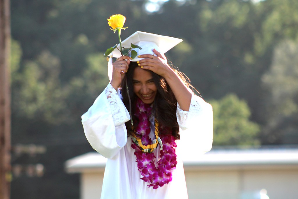 . Daisy Barrett for The Willits News Gisele Nieto participates in Thursday\'s ceremony at Willits  High School
