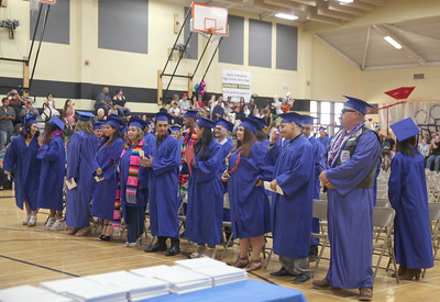 CINTIA LOPEZ - DAILY DEMOCRAT The Woodland Adult School saw hundreds of graduates this year.