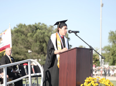 CUTTER HICKS - DAILY DEMOCRAT Pioneer High School's graduation ceremony featured lots of student and faculty speakers.