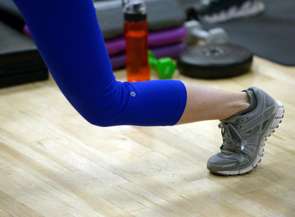 . Lunges are part of the BODYPUMP workout at the Arapahoe YMCA, 2800 Dagny Way, Lafayette, Wednesday morning. To view more photos visit dailycamera.com. Lewis Geyer/Staff Photographer Dec. 06, 2017