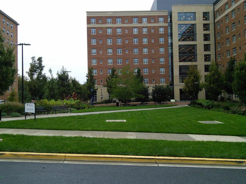 Oakland Hall Landscape Beds