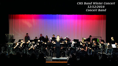 16 1216 CHS Concert Band Winter Concert