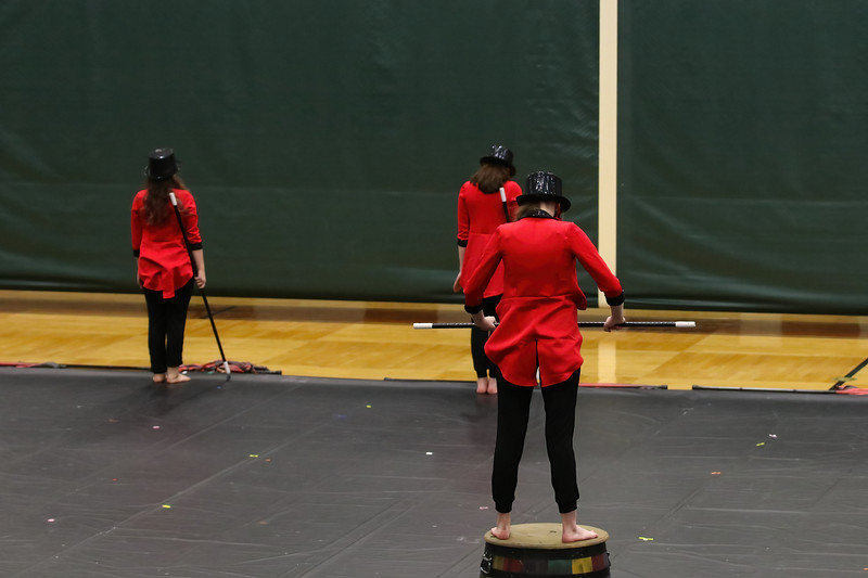 4/1/21 - Clark Winter Guard at Central Cluster Exhibition