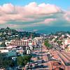 Los Angeles - Glendale Blvd north from the Sunset Blvd bridge