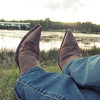 ATP - chillin in my photogenic boots out by the pond