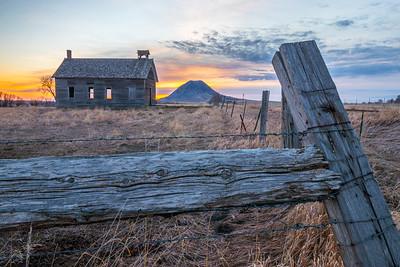 Sunrise over the Spring Creek Schoolhouse