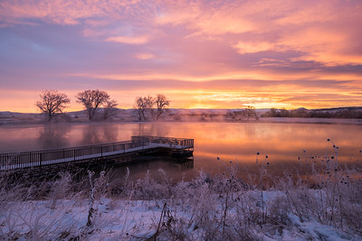 Sunrise over Cox Lake