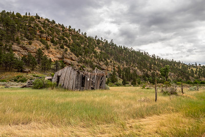 Old Building in Red Canyon near Edgemont