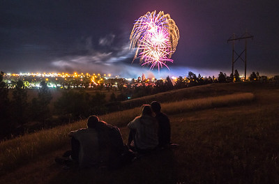 Fireworks over Belle Fourche