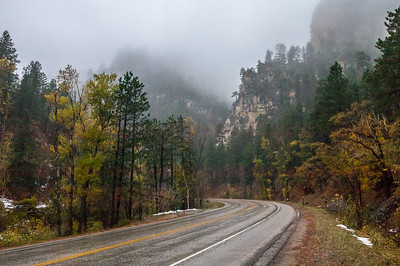 Fog in Spearfish Canyon