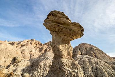 Balancing Rock in Badlands National Park