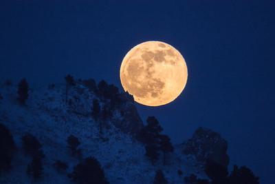 Full Wolf Moon over Bear Butte
