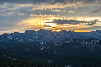 Sunset over the Black Hills