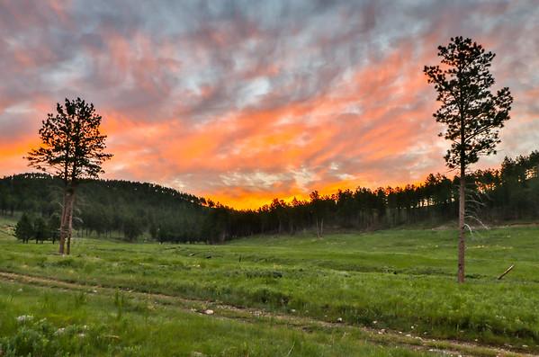 Sunrise over Teepee Canyon