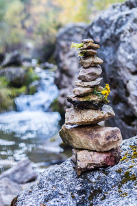 Rock Cairn in Spearfish Canyon