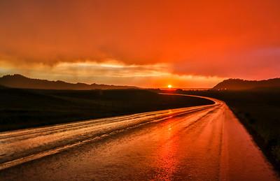 Stormy Sunset near Spearfish