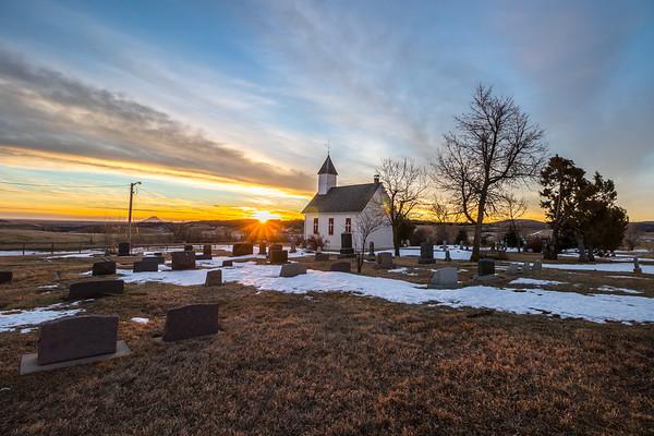 Little Dane Church Sunrise