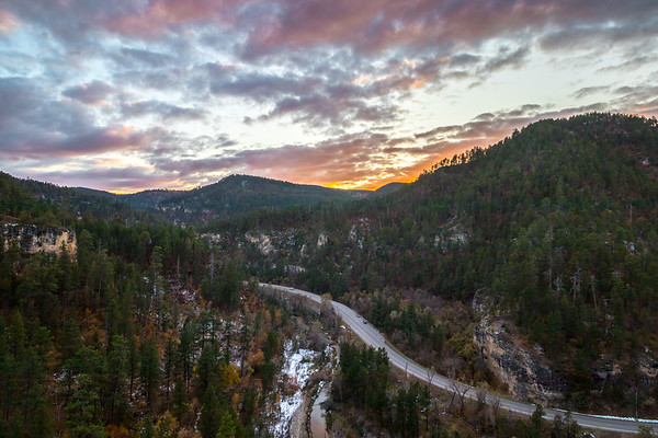 Sunset over Spearfish Canyon