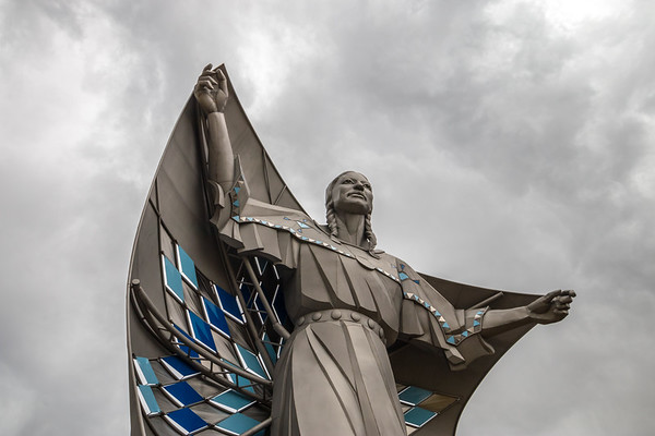 Dignity Statue in Chamberlain, SD