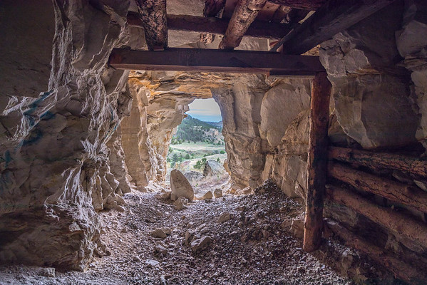 Old Mine Tunnel in Red Canyon near Edgemont